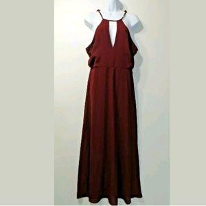 Lulus Women's dark wine sleeveless maxi dress